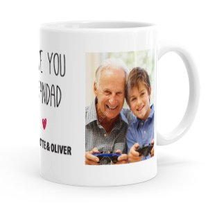 personalised love you grandad mug