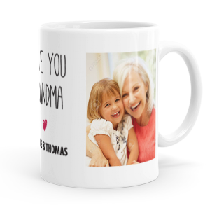 personalised love you grandma mug