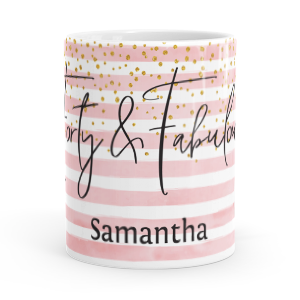 personalised forty and fabulous mug