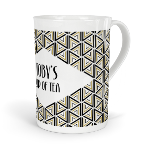 personalised geometric pattern fine bone china mug