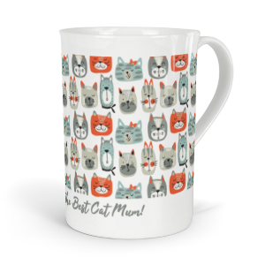 personalised cats fine bone china mug