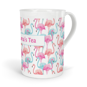 personalised flamingo fine bone china mug
