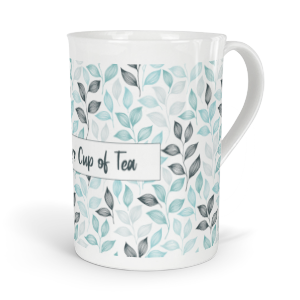 personalised leaves fine bone china mug
