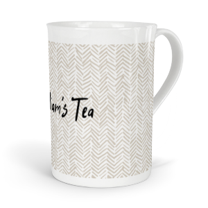 personalised herringbone fine bone china mug