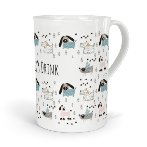 personalised hand drawn dogs fine bone china mug