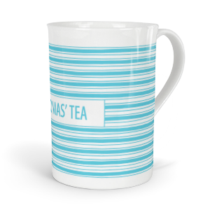 personalised horizontal stripes fine bone china mug