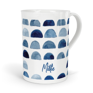 personalised indigo moon fine bone china mug