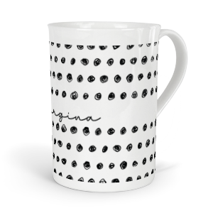 personalised inky doodle circles fine bone china mug