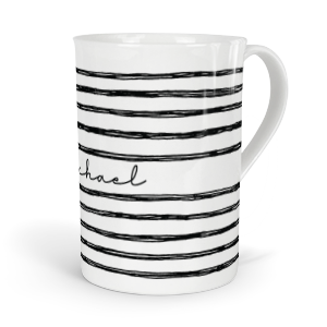 personalised inky doodle lines fine bone china mug