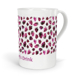 personalised very berry blackberries fine bone china mug