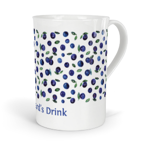 personalised very berry blueberries fine bone china mug