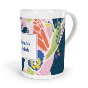 personalised verdant butterfly pea flower tea fine bone china mug