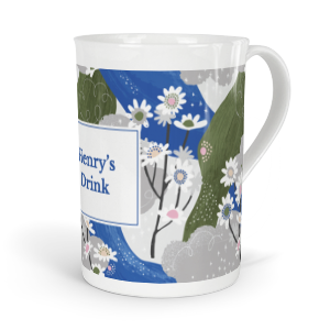 personalised verdant chamomile tea fine bone china mug