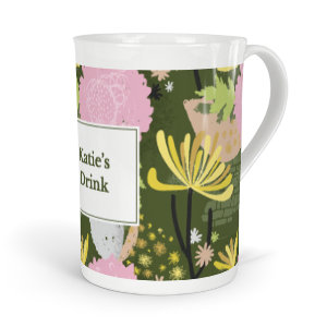 personalised verdant chrynsanthemum tea fine bone china mug