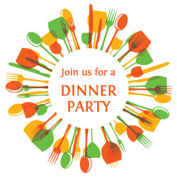 join us for a dinner party invitations