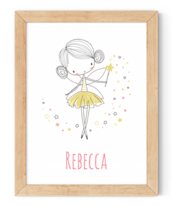 personalised fairy framed wall art