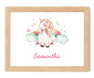 personalised unicorn framed wall art