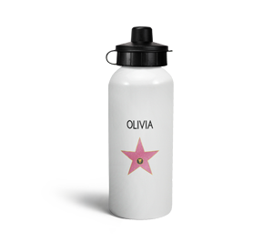 personalised hollywood star sports water bottle